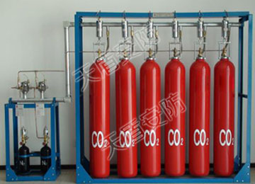 Carbon dioxide mixed gas fire extinguishing system