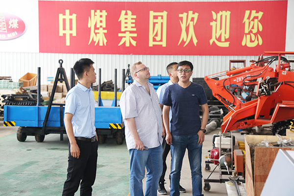 Warmly welcome Russian merchants to visit Shandong Tiandun to inspect procurement equipment