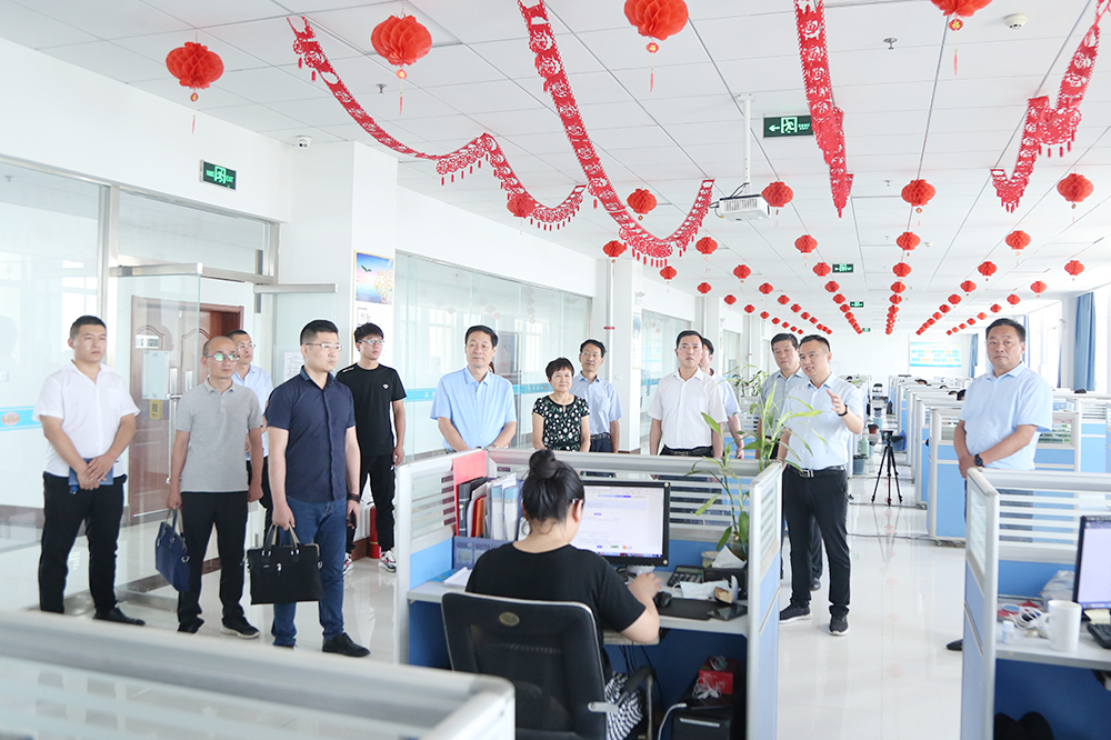 Warm Welcome Weishan County Old Science Association Leaders Visit To Shandong Tiandun